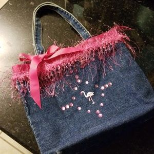 Handbags - Handmade blue jean purse